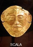 Mycenaean art Gold mask so-called of Agamemnon, from tomb n. 5 of Micene