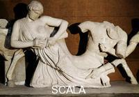 ******** West pediment of the temple of Zeus - detail (Lapith woman seized by a Centaur)