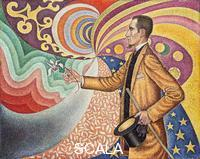 Signac, Paul (1863-1935) Opus 217. Against the Enamel of a Background Rhytmic with Beats and Angles, Tones and Tints, Portrait of M. Felix Feneon in 1890 (1890)
