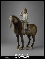 Chinese art Horse and Rider, China, Tang dynasty (618-907), early 8th CE