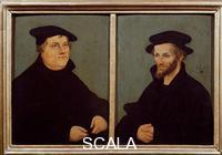 Cranach, Lucas the Elder (1472-1553) Portrait of Luther and Melanchthon