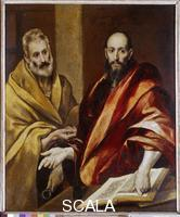 El Greco (Theotokopulos, Domenico 1541-1614) Saints Peter and Paul