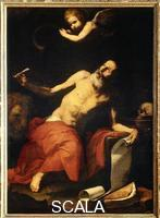 Ribera, Jusepe de (1591-1652) Saint Jerome Listening to the Sound of the Trumpet