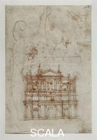 Michelangelo (Buonarroti, Michelangelo 1475-1564) Drawing for the façade of San Lorenzo no. 43 A