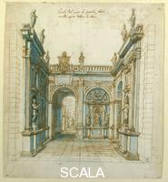 Cigoli, Ludovico (1559-1613) Arch of Triumph for the Wedding of Ferdinand I and Christine of Lorraine no. 1798 Orn