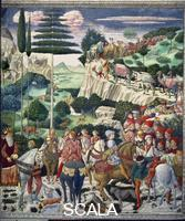Gozzoli, Benozzo (1420-1497) Procession of the Magi: wall with Giuliano