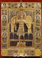 ******** Enamel with precious stones - full-length figure of the Archangel Michael