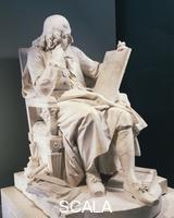******** Marble statue of Blaise Pascal (1623-1662), French scientist and philosopher. By Augustin Pajon (1730-1809), height 1.46 m.
