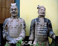 ******** Terracotta warrior statues, Chinatown, Singapore. Each terracotta warrior has a unique and distinctive face and is thought that real soldiers served as models.