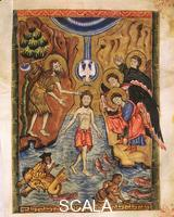 Toros of Taron (13th-14th cent.) Ms 6289 Vangelo: Baptism of Christ f. 18r, 1323