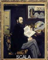 Manet, Edouard (1832-1883) Portrait of Emile Zola