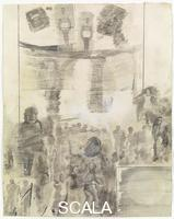 Rauschenberg, Robert (1925-2008) Canto XX: Circle Eight, Bolgia 4, The Fortune Tellers and Diviners , from the series 'Thirty-Four Illustrations for Dante's Inferno, (1959-60)