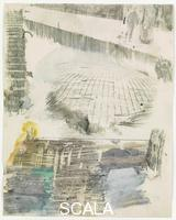 Rauschenberg, Robert (1925-2008) Canto XXVI: Circle Eight, Bolgia 8, The Evil Counselors, from the series 'Thirty-Four Illustrations for Dante's Inferno, (1959-60)