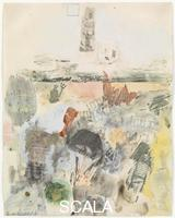 Rauschenberg, Robert (1925-2008) Canto XXVII: Circle Eight, Bolgia 8, The Evil Counselors, from the series 'Thirty-Four Illustrations for Dante's Inferno, (1959-60)