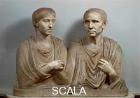 Roman art Bust of Cato and Portia