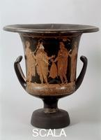 ******** Italiot krater with Ulysses receiving the wine to get Polyphemus drunk