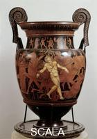 Greek art Attic krater with the Death of Talos, 5th cent. b.C.