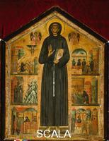 Berlinghieri, Bonaventura (1235-1274) Altar frontal with Saint Francis and Scenes from His Life