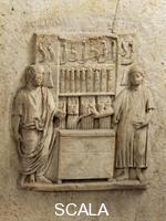 Roman art Relief depicting a knife seller's store