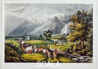 Currier and Ives (19th cent.) Rocky Mountains