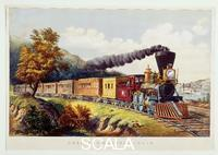 Currier and Ives (19th cent.) American Express Train