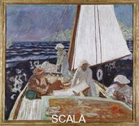 Bonnard, Pierre (1867-1947) Signac and His Friends on a Sailboat