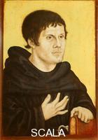 Cranach, Lucas the Elder (1472-1553) Portrait of Martin Luther as a Young Man