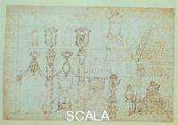Cigoli, Ludovico (1559-1613) Sketches for the funeral of Philip II of Spain 2654 A sez. orn. recto