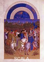Limbourg, Paul (fl. early 15th cent.); Limbourg, Hermann (fl. 1400-1416); Limbourg, Jean (fl. 1399-1416) May, from 'Les Tres Riches Heures du Duc de Berry', 1412-1416