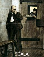 ******** Alfred Dreyfus in prison (from 'Le Petit Journal', Paris, January 1895)