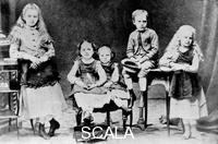 ******** Children of the Sklodowski family, Polish, c. 1870-1875