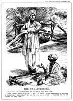 Raven-Hill, Leonard (1867-1942) Gandhi fasting in support of Untouchables, 1932 (cartoon from 'Punch', London, 28th September 1932)