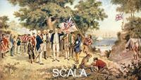 ******** Captain James Cook taking possession of New South Wales in the name of the British Crown, 1770