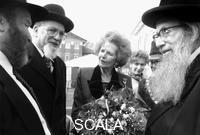 Nathan, John (20th cent.) Margaret Thatcher with Jewish elders, Stoke Newington, London, 1995.