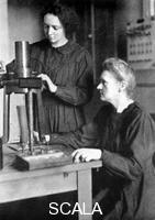 ******** Marie Curie, Polish-born French physicist and her daughter Irene, 1925.