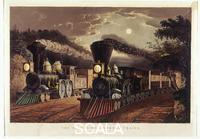 Currier and Ives (19th cent.) The 'Lightning Express' Trains