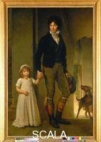 Gerard, Francois (1770-1837) Portrait of the Miniaturist Jean-Baptiste Isabey and His Daughter