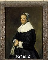 Hals, Frans (c. 1580-1666) Woman Standing with Gloves in Her Hand Turned to the Left