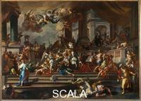 Solimena, Francesco (1657-1747) Heliodorus Expelled from the Temple