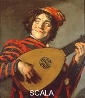 Hals, Frans (c. 1580-1666) Clown with Lute