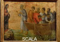 Duccio di Buoninsegna (c. 1260-1318) Maesta, upper section: Appearance on the Sea of Galilee