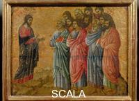 Duccio di Buoninsegna (c. 1260-1318) Maesta, upper section: Appearance on Mount Galilee