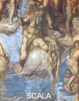 Michelangelo (Buonarroti, Michelangelo 1475-1564) Last Judgment - detail (Saint Bartholomew) [before restoration]
