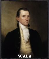 Herring, James (1794-1867) after John Vanderlyn (1775-1852). Portrait of James Monroe (1758-1831). 5th US President. Ca. 1835.