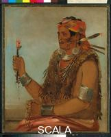 Catlin, George (1796-1872) Ten-squat-a-way (The Open Door), known as the Prophet, Brother of Tecumseh, Shawnee, 1830