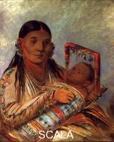 Catlin, George (1796-1872) Chee-a-ka-tchee, wife of Not-to-Way (Iroquois). 1830-39.