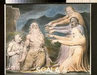 Blake, William (1757-1827) Illustrations of the Book of Job, RA 2001.72, III, 45, pl. 10: 'Job Rebuked by his Friends'