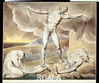 Blake, William (1757-1827) Illustrations of the Book of Job RA 2001.68: Satan Smiting Job with Boils