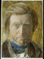Ruskin, John (1819-1900) Self-portrait with Blue Neckcloth, c. 1873