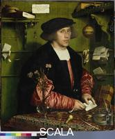 Holbein, Hans the Younger (1497-1543) The Merchant Georg Gisze. 1532. orn in Danzig, Gisze lived in London and was 34 years old.